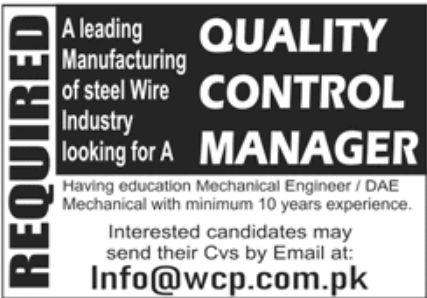 Leading Manufacturing of Steel Wire Industry Jobs June 2020