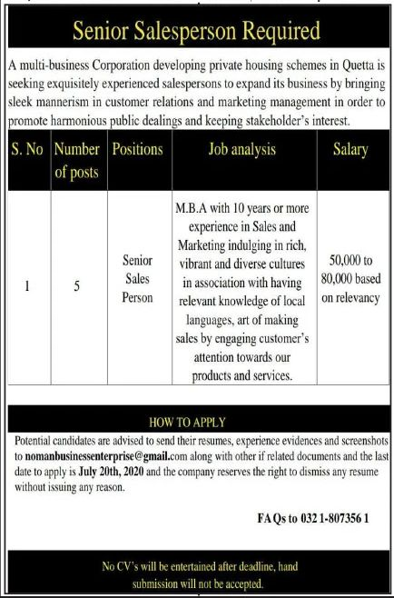 Multi Business Corporation Developing Private Housing Schemes Jobs June 2020