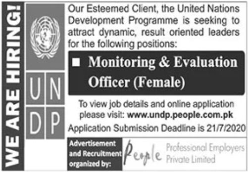 United Nations Development Programme Jobs June 2020