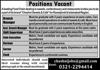 Leading Food Chain Jobs August 2020
