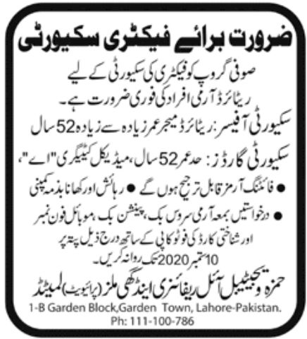 Sufi Group Jobs August 2020
