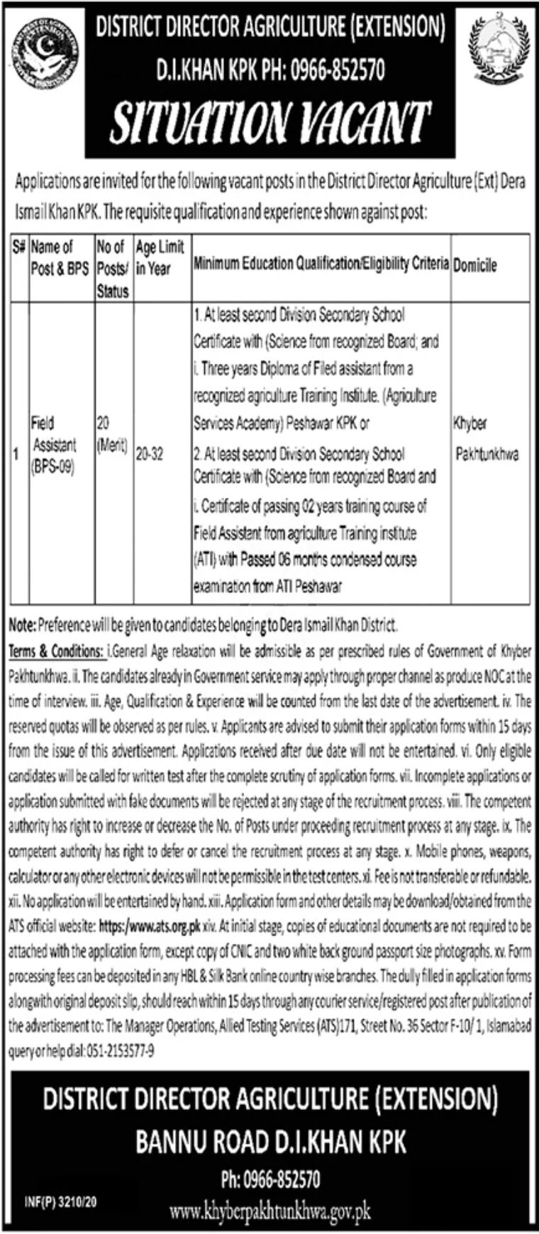 District Director Agriculture Jobs September 2020
