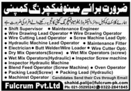 Fulcrum Pvt Ltd Jobs September 2020