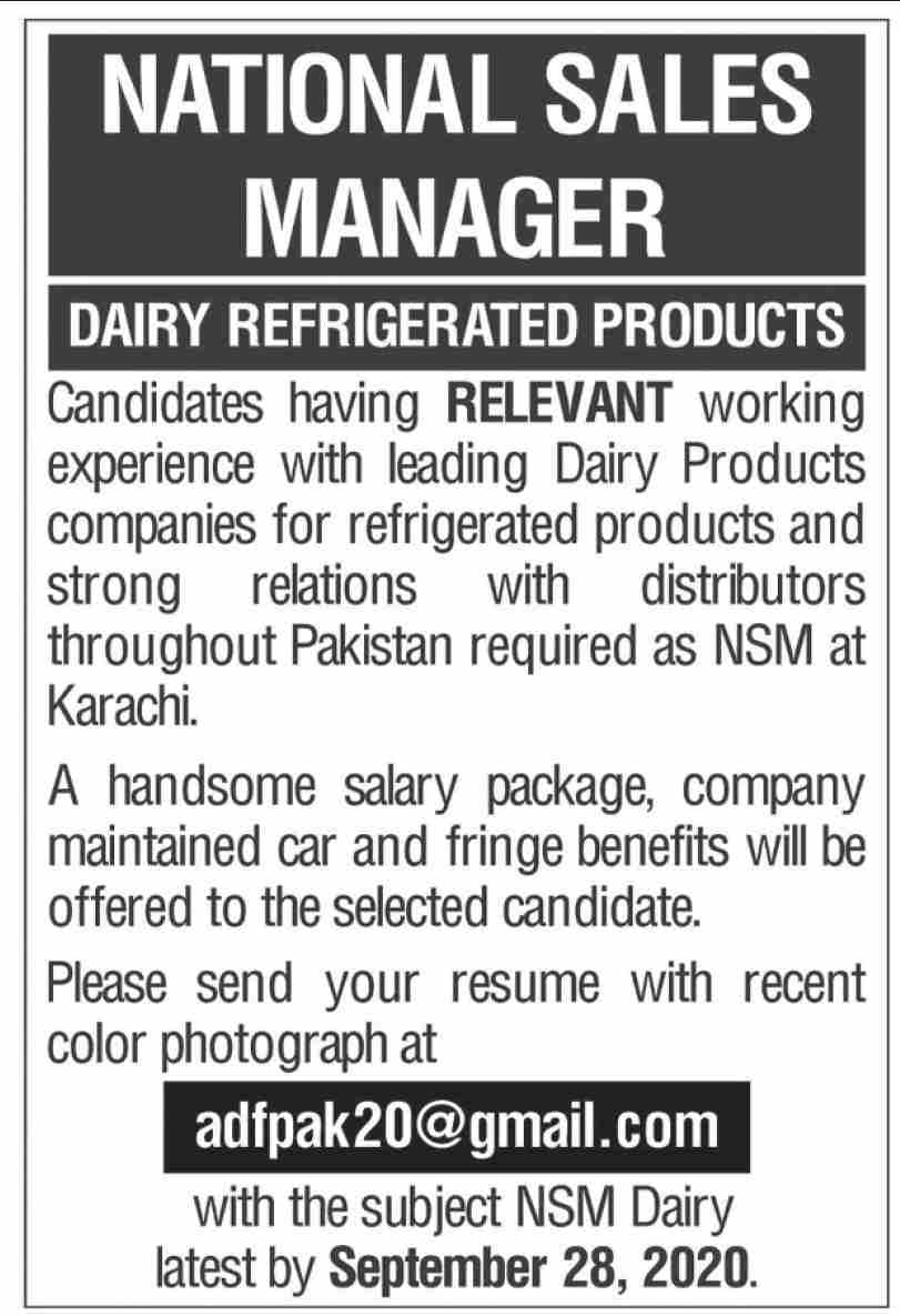 Leading Dairy Products Companies Jobs September 2020