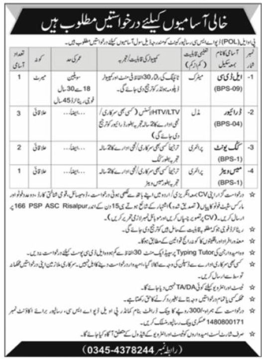 POL Depot Risalpur Jobs September 2020