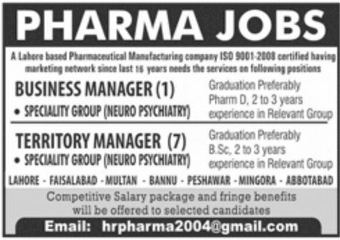 Pharmaceutical Manufacturing Company Jobs September 2020