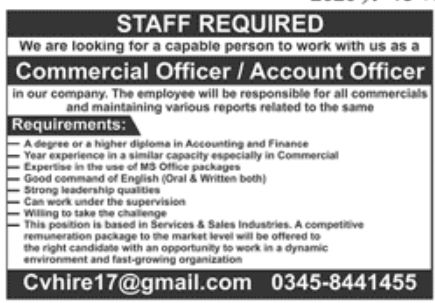 Private Company Lahore Jobs September 2020