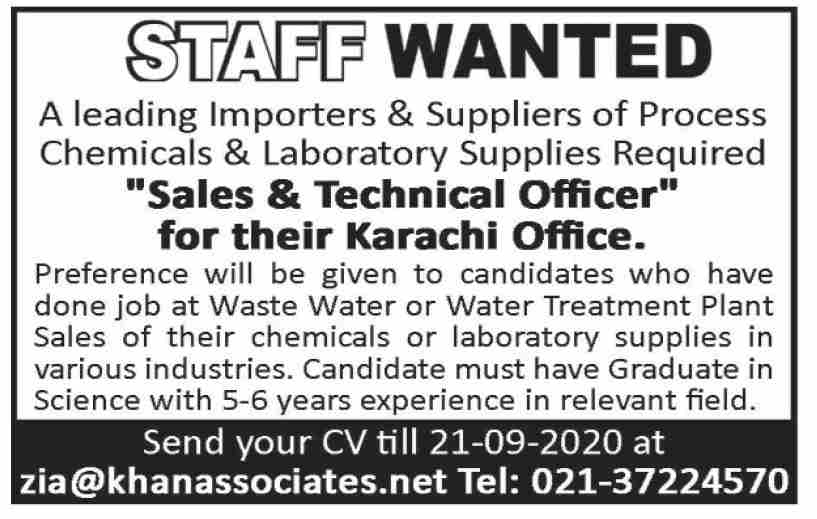 Private Sector Karachi Jobs September 2020