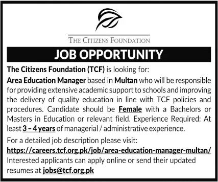 The Citizens Foundation TCF Jobs September 2020