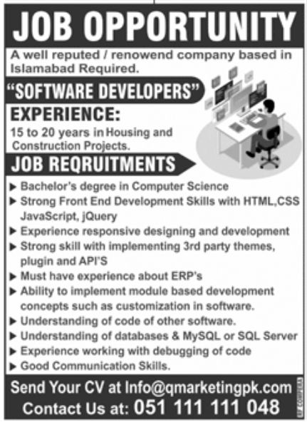 Well Reputed Islamabad Based Company Jobs September 2020