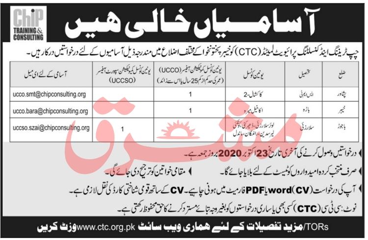 Chip Training & Consulting Private Limited Jobs October 2020
