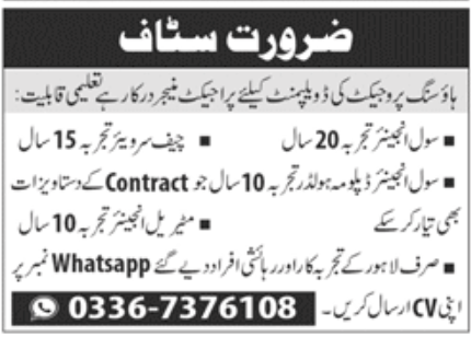 Housing Development Project Jobs October 2020