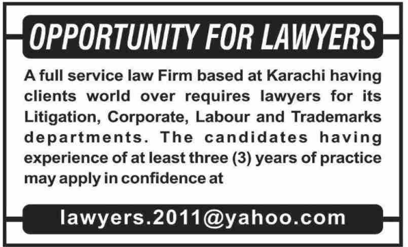 Law Firm Jobs October 2020