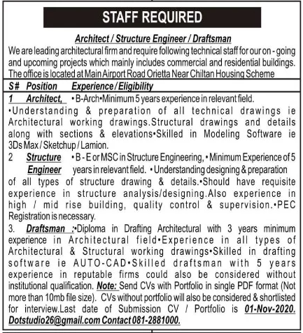 Leading Architectural Firm Jobs October 2020