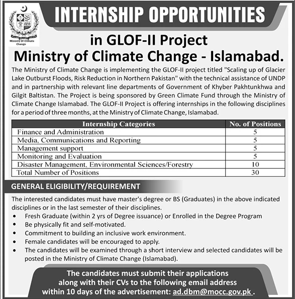 Ministry of Climate Change Jobs October 2020