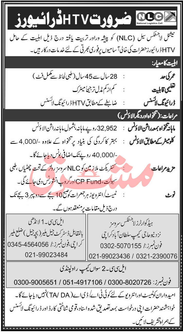 National Logistic Cell NLC Jobs October 2020