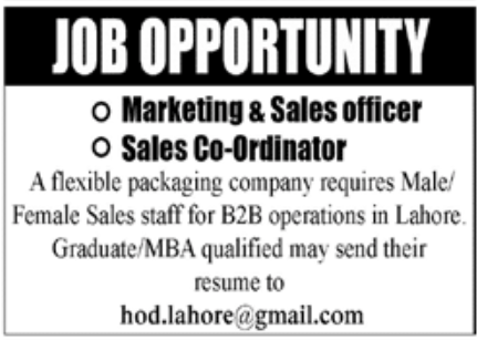 Packaging Company Jobs October 2020