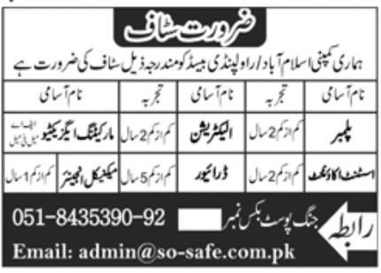 Private Company Islamabad Jobs October 2020