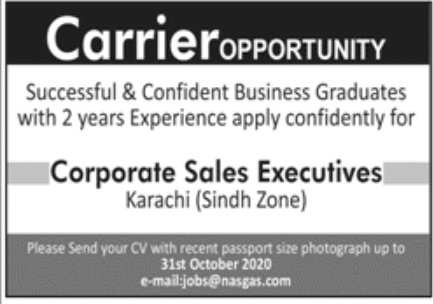 Private Sector Karachi Jobs October 2020