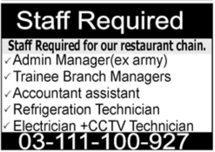 Restaurant Chain Jobs October 2020