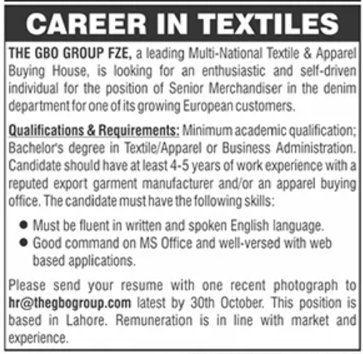 The GBO Group FZE Jobs October 2020