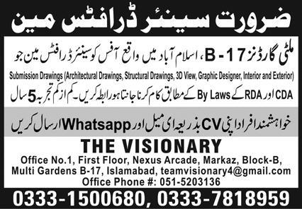 The Visionary Islamabad Jobs October 2020