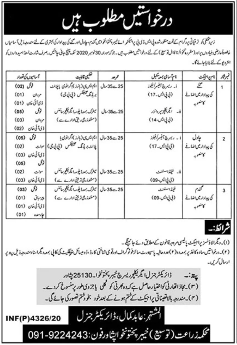Agriculture Department Jobs November 2020
