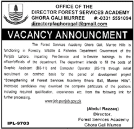 Director Forest Services Academy Jobs November 2020