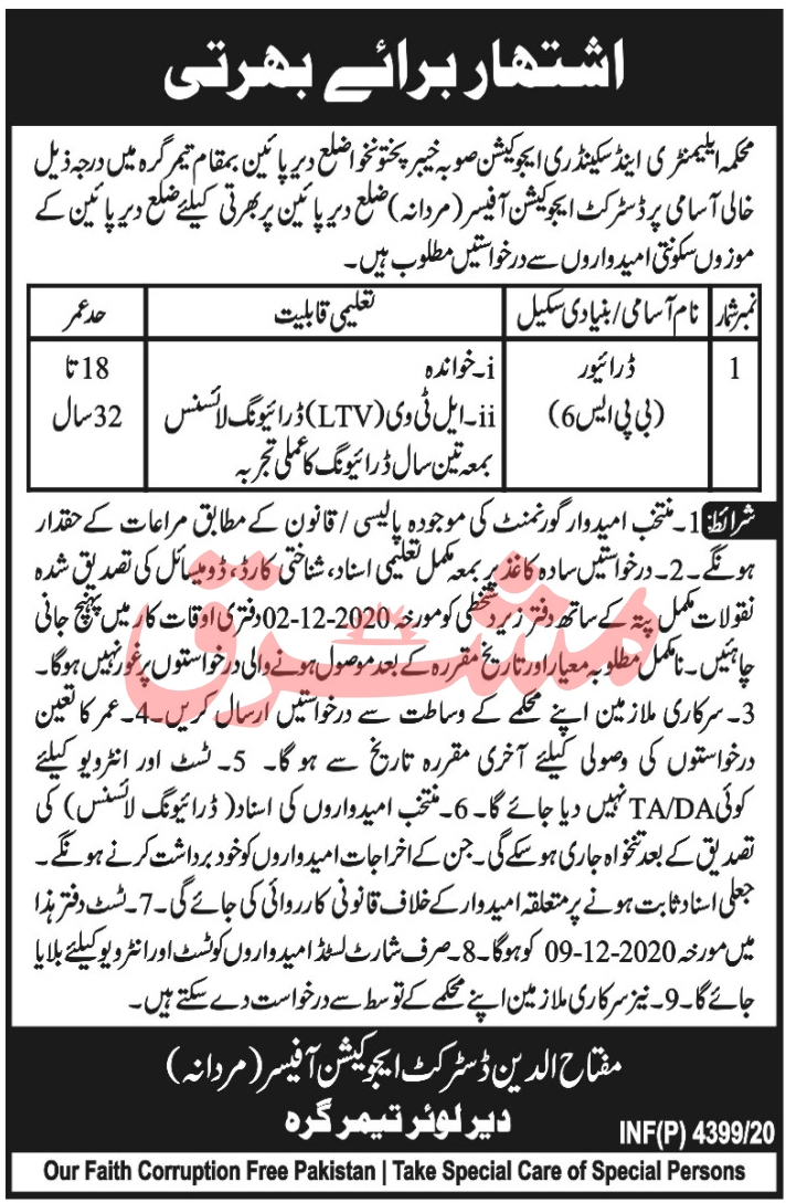Elementary and Secondary Education Department Jobs November 2020