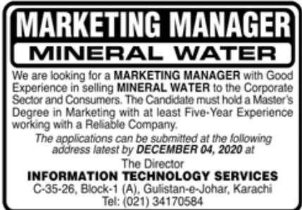 Information Technology Services Jobs November 2020