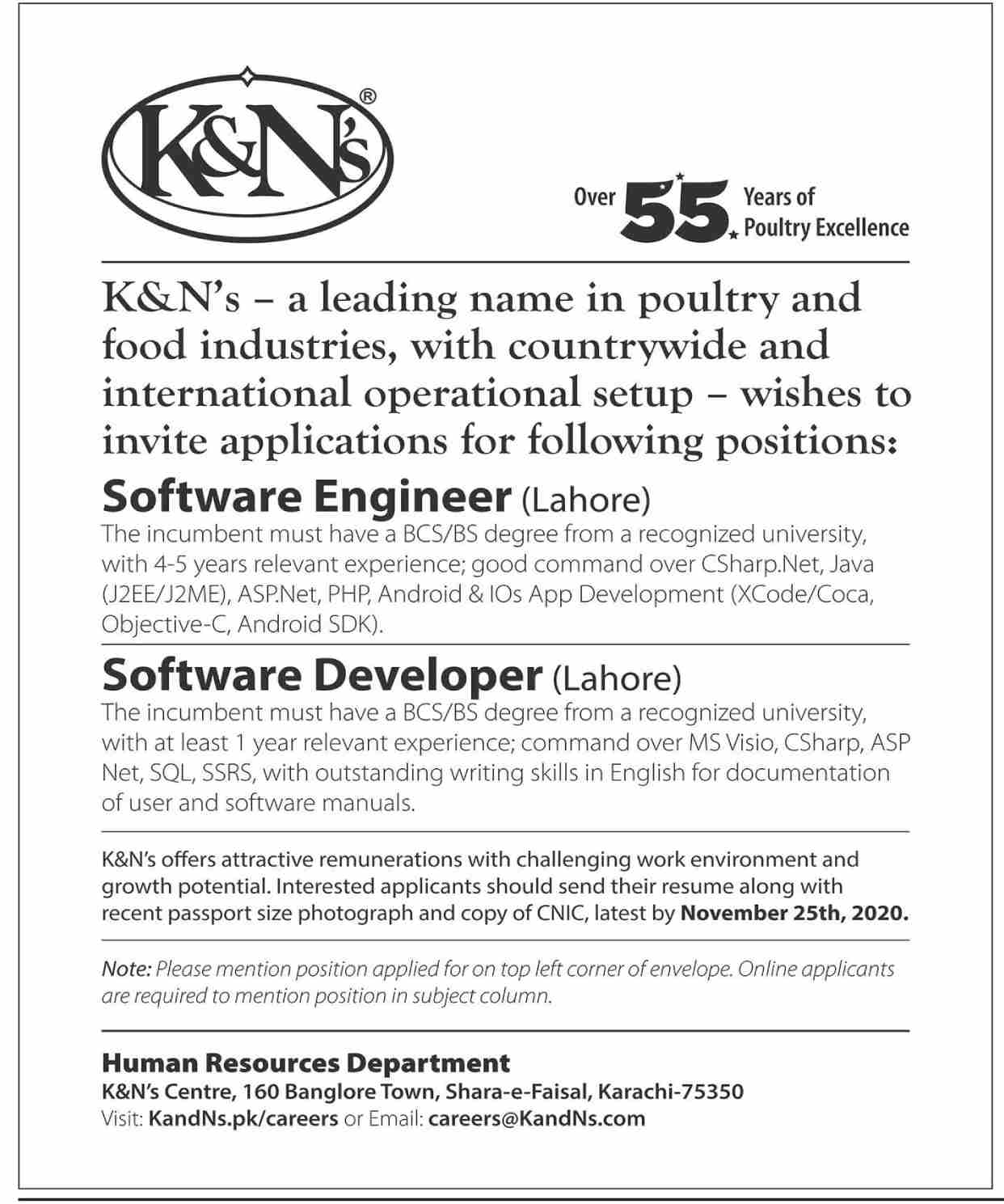 K&Ns Poultry and Food Industries Jobs November 2020