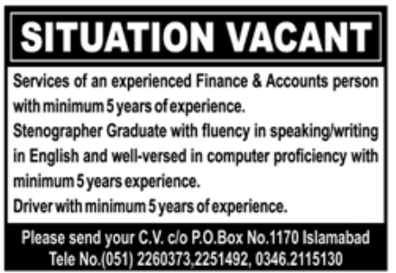Private Sector Islamabad Jobs November 2020