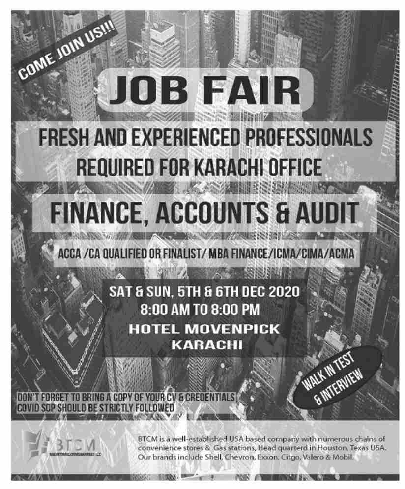 Private Sector Karachi Jobs November 2020