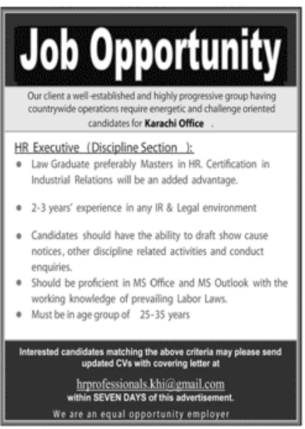Progressive Group Karachi jobs November 2020