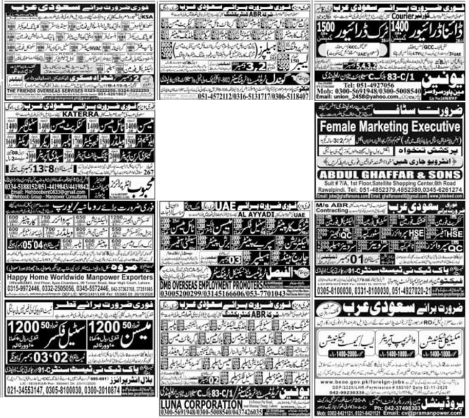 Express Newspaper Jobs 01 December 2020