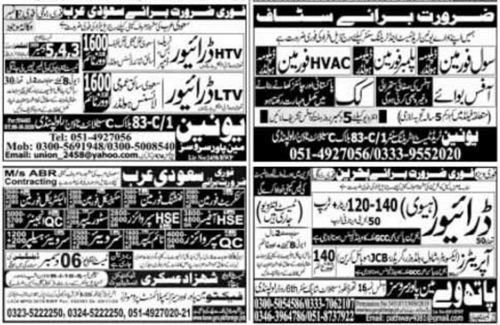 Express Newspaper Jobs 03 December 2020