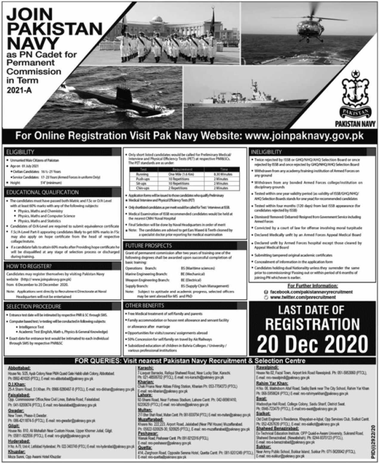 Join Pakistan Navy Jobs December 2020