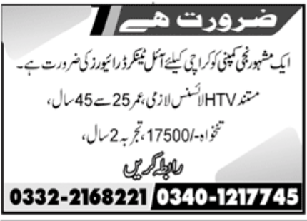 Private Company Karachi Jobs December 2020