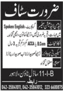 Private Sector Lahore Jobs December 2020