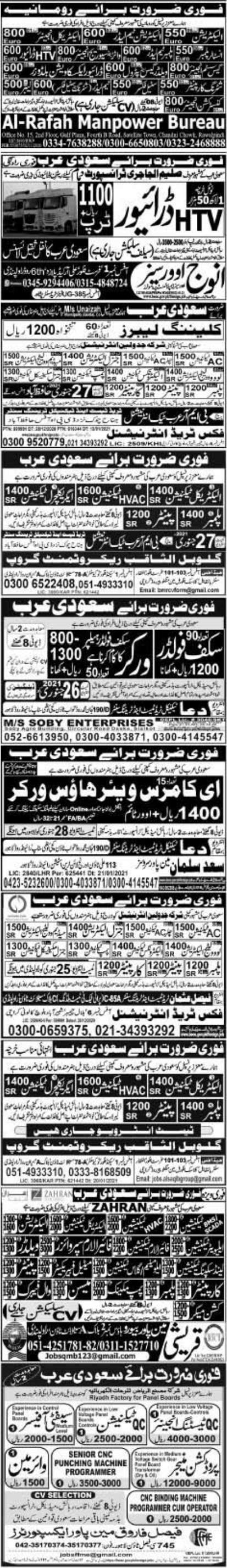 Express Newspaper Jobs 24 January 2021