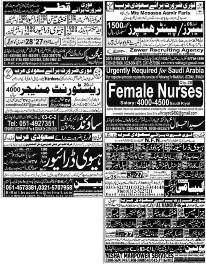 Express Newspaper Jobs 26 January 2021