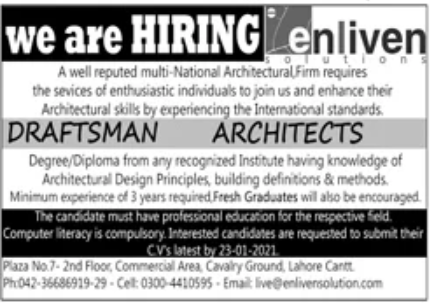 Multi National Architectural Firm Jobs January 2021