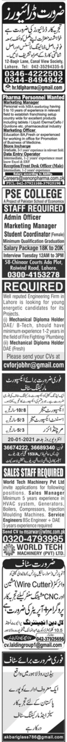 Paperpk Newspaper Jobs 17 January 2021
