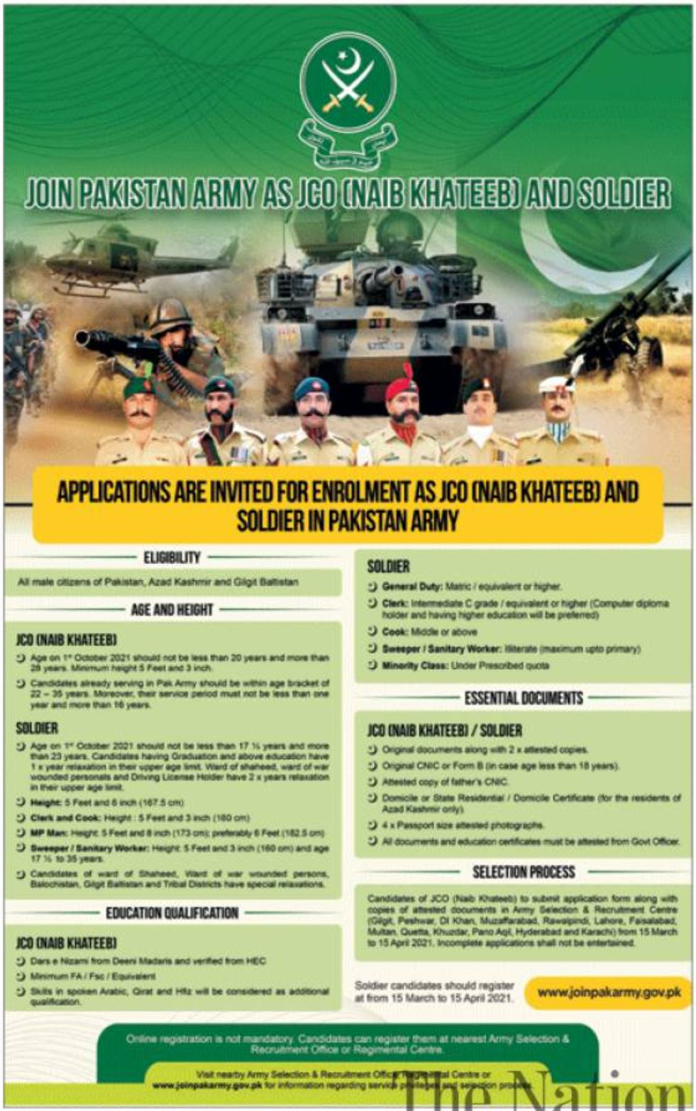 Pakistan Army Officers Jobs February 2021