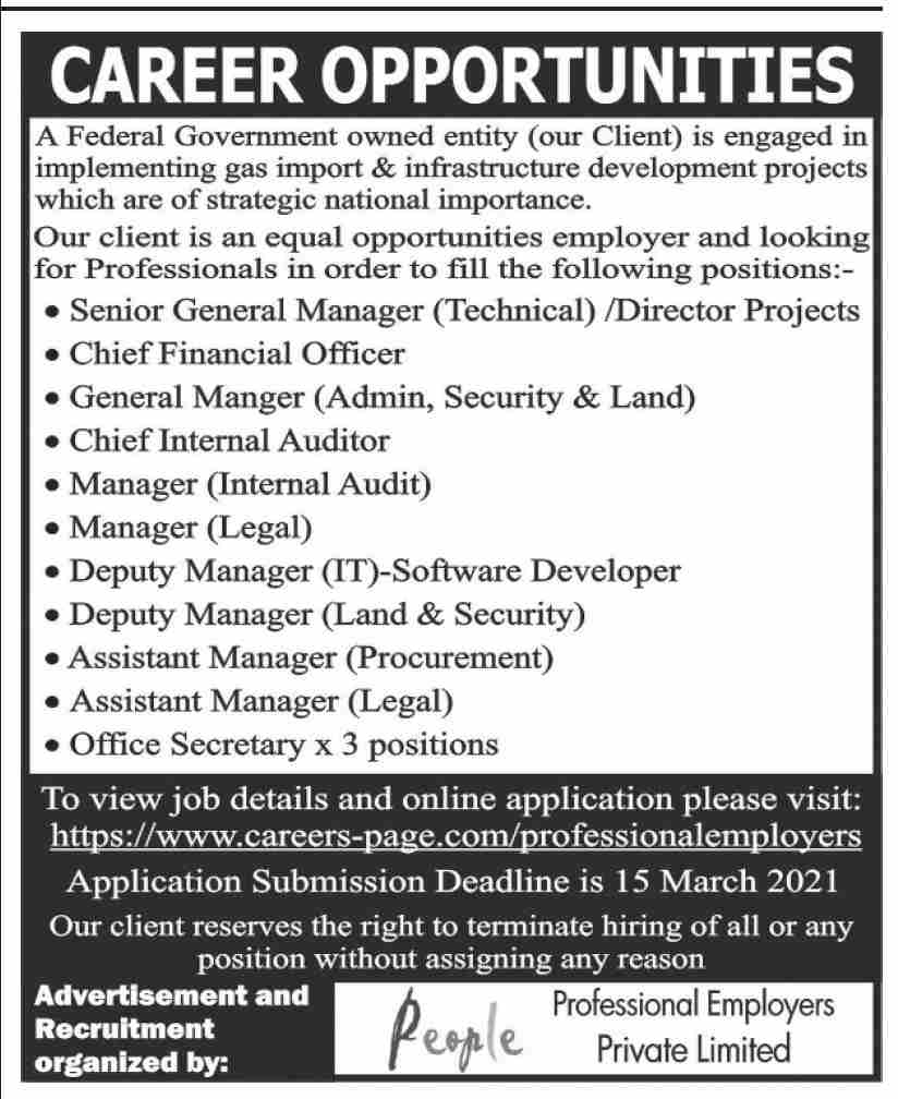 Professional Employers Private Limited Jobs February 2021