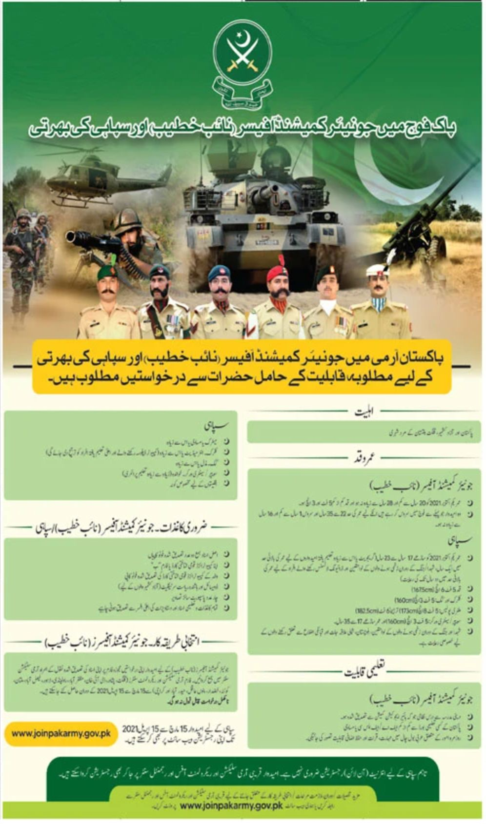 Pakistan Army Jobs March 2021