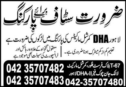Private Sector Lahore Jobs March 2021