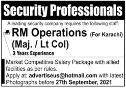 Leading Security Company Jobs September 2021