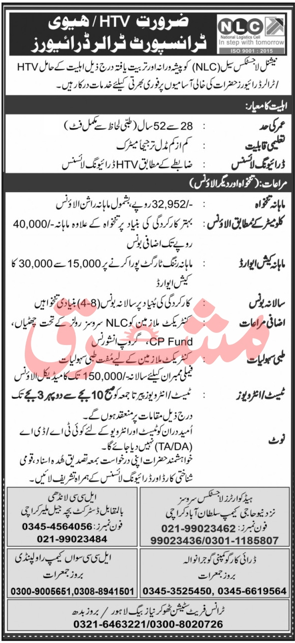 National Logistic Cell NLC Jobs October 2021