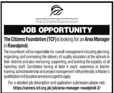 The Citizens Foundation TCF Jobs October 2021